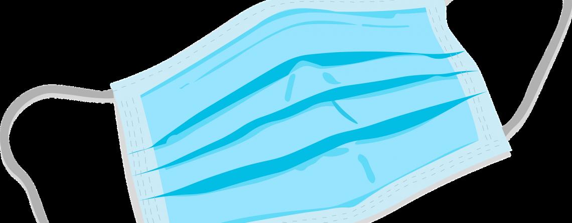 Blauw mondmasker